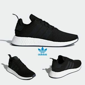 huge selection of b8f65 13796 Image is loading Adidas-Original-NMD-R2-Runner-Boost-Shoes-Black-