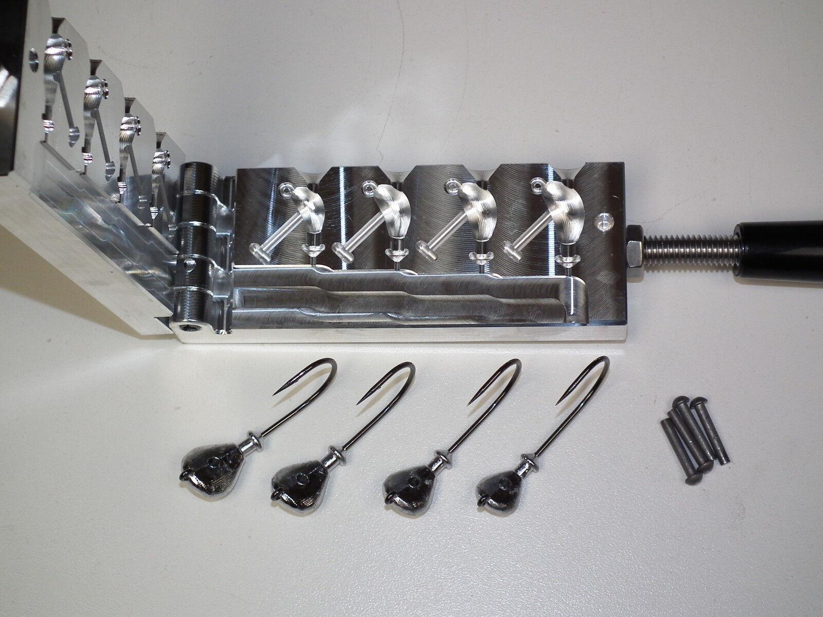 Freshwater Flip jig mold 38, 12, 58, 34oz CNC Aluminum Arky