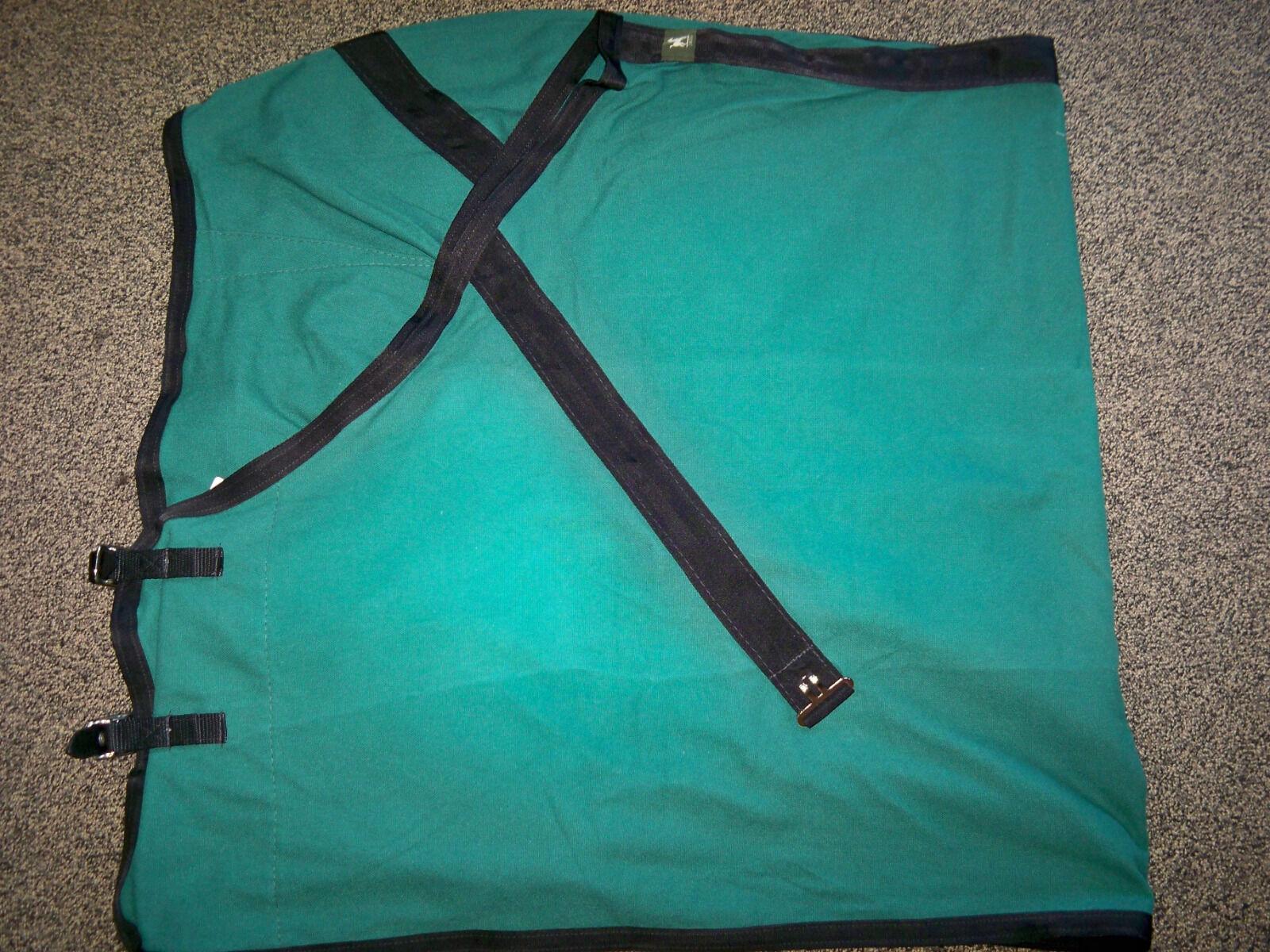 Nuevo Nuevo Nuevo Con Etiquetas Jacks Newport estable Manta verde Oscuro Con Ribete Negro Tamaño 72   99772a