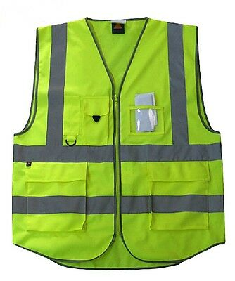 Pack 10 pcs High-Vis Warning Reflective Tape Strips Safety Vest ANSI CLASS 2 2XL