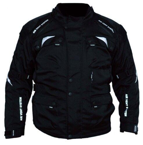 Texpeed Mens Black /& Red Waterproof Armoured Motorcycle//Motorbike Jacket