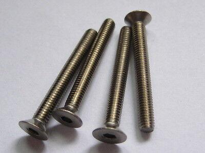 Titan-Schrauben M4x12 Senkkopf DIN7991 Innensechskant Schraube titanium screw