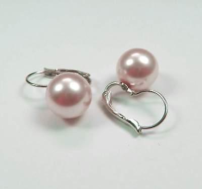 Intelligente Nuovo Orecchini 12mm Swarovski Perline Rosaline/rosa Orecchini Perle Orecchini-mostra Il Titolo Originale