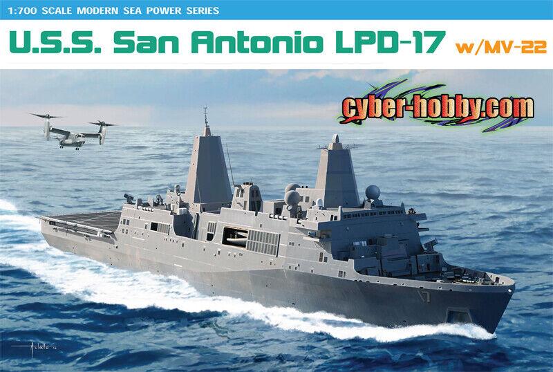 U.S.S. San Antonio LPD-17 Battleship 1 700 Plastic Model Kit CYBER HOBBY