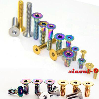 6pcs M6 x 16//18//20//25mm Titanium Cylinder Hexagon Socket Head Bike Screws Bolts