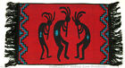 Woven Placemat Table Mat Native American Kokopelli Southwestern RED #8