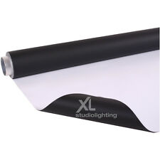 2m x 6m White+Black Photographic Background Vinyl DUO - High / Low Key
