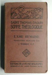 Rare-Livre-Ancien-Saint-Thomas-d-039-Aquin-1928-J-Webert-edition-revue-des-jeunes