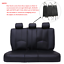 Universal-Car-Seat-Covers-Beige-Faux-Leather-Airbag-Compatible-For-Car-TRUCK-Kia thumbnail 7