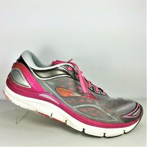 sports shoes 6d329 41e57 Details about Brooks Transcend 3 Womens Gray And Pink Athletic Shoes Size  9.5 B Medium