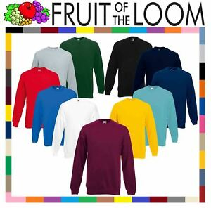 Fruit-of-the-Loom-Para-Hombre-Clasico-Juego-De-80-20-Sudadera-Jumper-Jersey-Sudadera-en