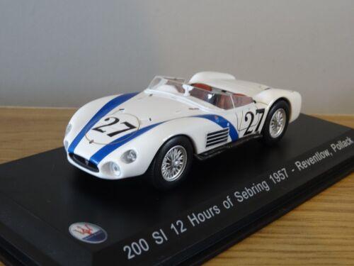Nice 1//43 Maserati 200si Sebring 1957 Leo Models  Bomporto Italia Reventlow