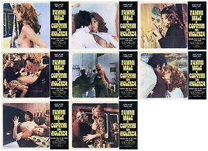 FAMMI MALE E COPRIMI DI VIOLENZA SET FOTOBUSTE 8 PZ FILM EROTICO 1973 LOBBY CARD
