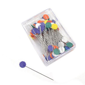 50 pcs Flower Head Pins Extra Long Coloured 52 mm Pins Patchwork ... : flower head pins quilting - Adamdwight.com