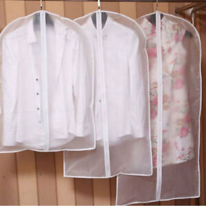 Housse-Vetement-Rangement-Costume-Sac-Transparents-Anti-poussiere-Protection-NF