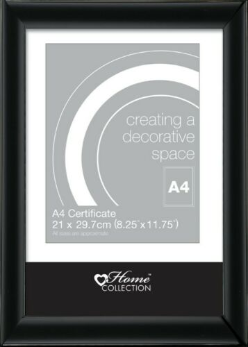 Hanging Hook A4 Certificat Cadre Photo Image Noir styrène Avant Avec Support