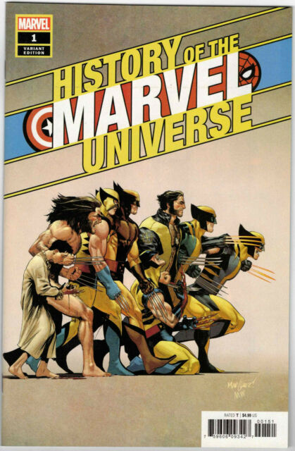 HISTORY OF MARVEL UNIVERSE #1 1:50 DAVID MARQUEZ VARIANT WOLVERINE COVER 2019