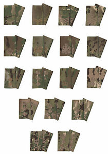 Pair-Of-Bronze-on-Multicam-MTP-Rank-Slides-Multi-Terrain-Pattern-All-Ranks