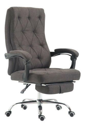 Fauteuil bureau GEAR chaise tissu repose jambe relaxation confort réglable neuf