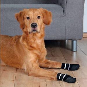 Details About Pair Non Slip Dog Socks Anti Slip Wooden Laminated Tiled Floor Rubber Grip Socks
