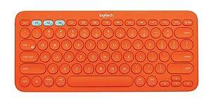 Details about Logitech K380 Multi-Device Bluetooth Keyboard (Orange)