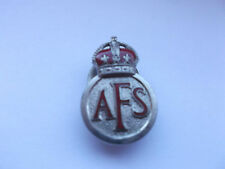 auxiliary  fire service  AFS  numbered on war service badge
