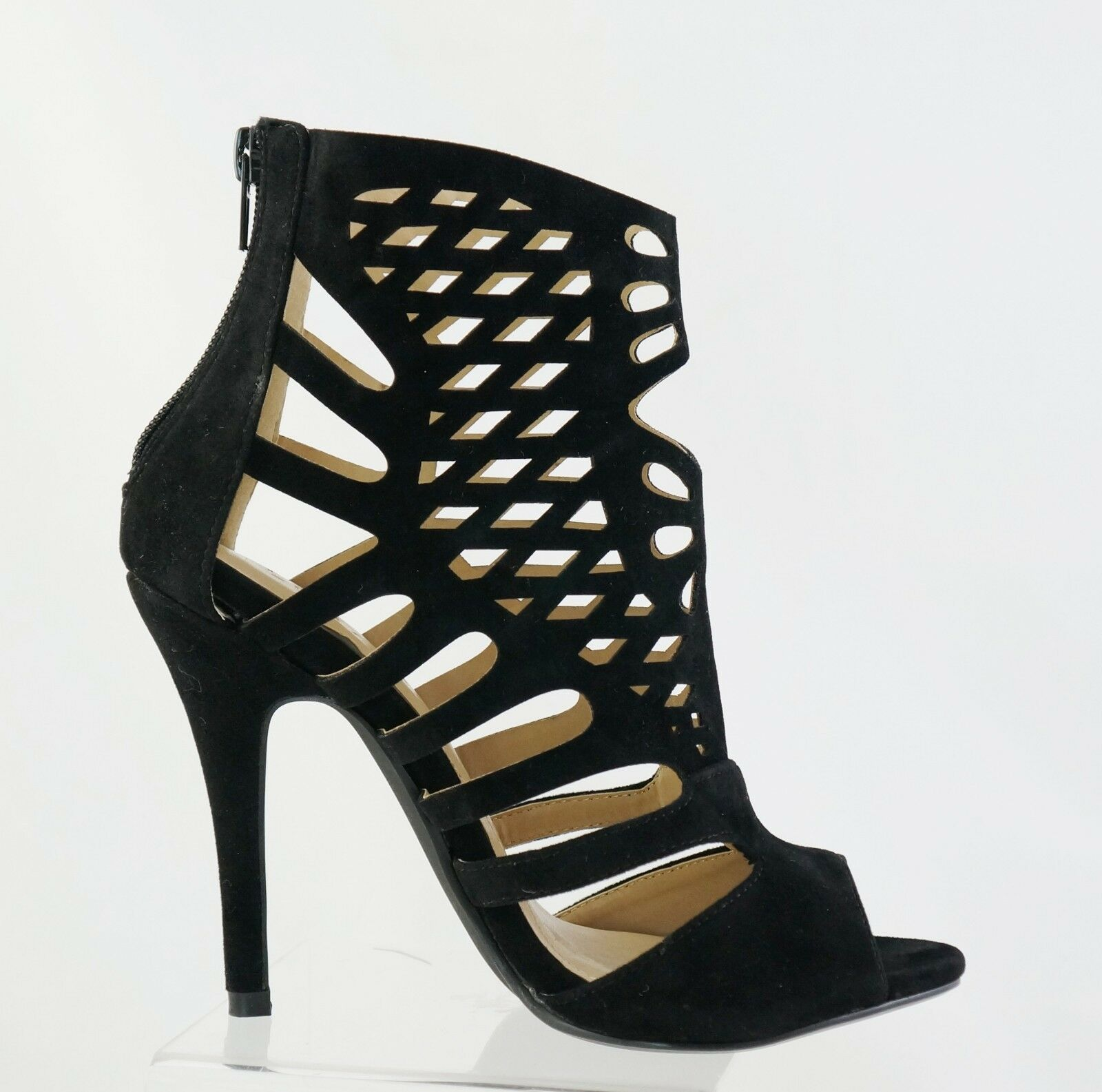 New Anya-8 Leatherette Caged Cut Out Stiletto High Heel
