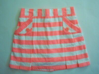 SUMMER GYMBOREE Bright /& Beachy Denim Skirt Neon Pink Dots on Pockets 4 5 10 NEW