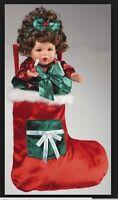 Marie Osmond Doll Merry Kisses Stocking Girl Hershey's 12 Porcelain Doll