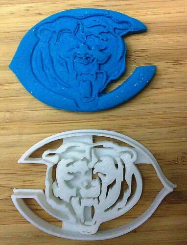 - 3D Printed Chicago Bears Bear Cookie Cutter Sports Football Choice of Size