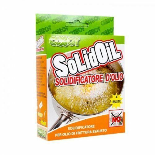 Solidificatore olio esausto esaurito usato per friggere solidoil axor confezione