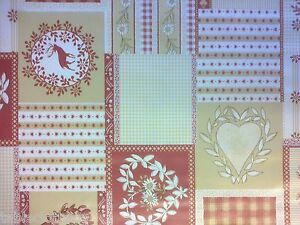Details About 2 6m 102 Stags Wipe Clean Hearts Vinyl Pvc Christmas Oilcloth Tablecloth Co
