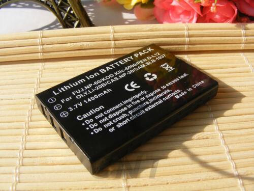 Batería de Cámara Cargador Para Toshiba Camileo S10 H20 P10 P30 H10 Np-60 pdr-bt3