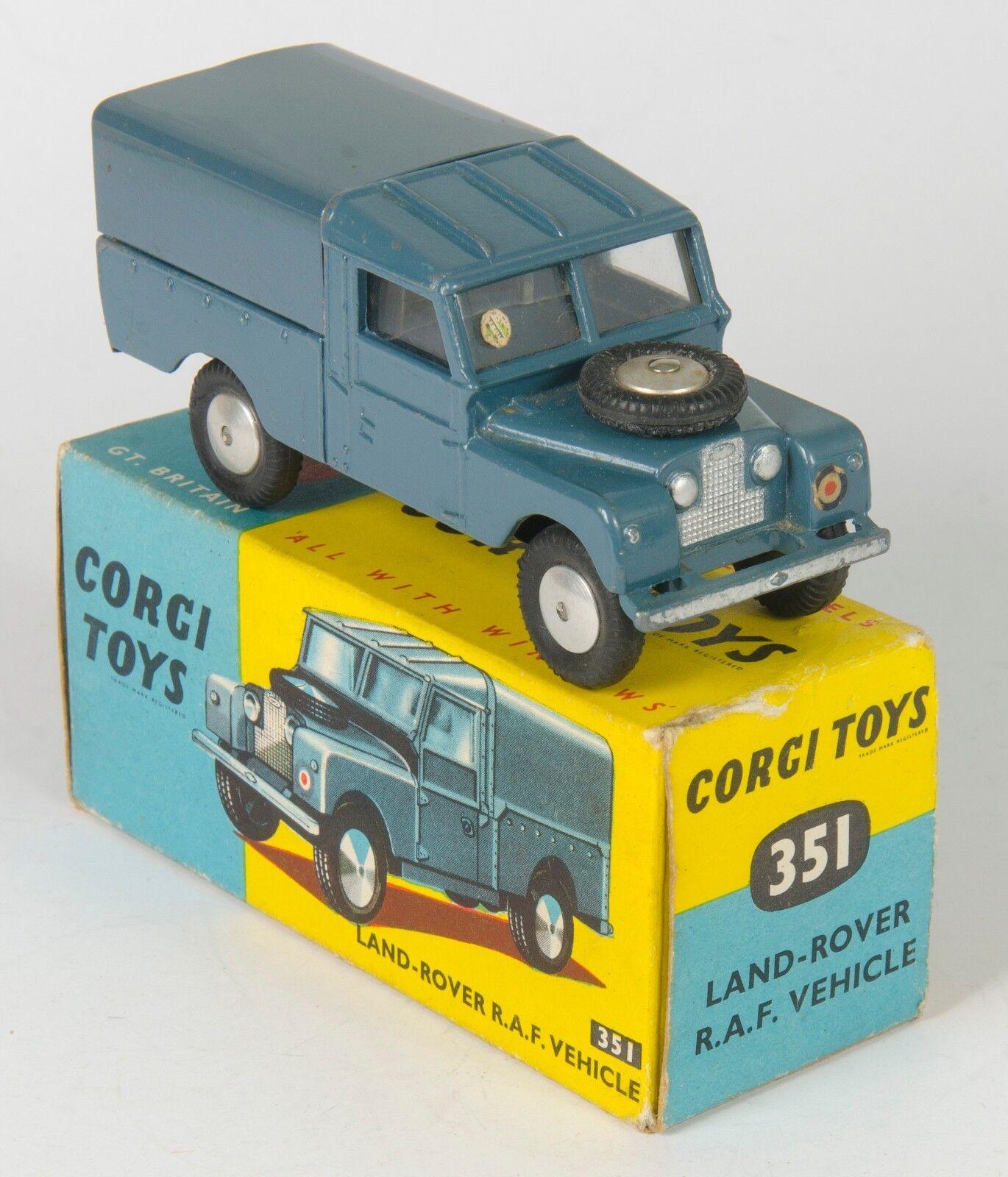 Corgi 351 Land-Rover R.A.F. Vehicle. bluee. Near-MINT Boxed. 1950's