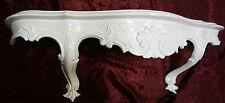 Wandkonsole Weiß Barock Antik Wandregal Kommode Spiegelablage B:49 x13x21cm Cp51