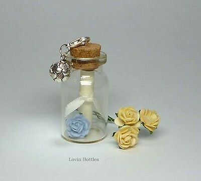HAPPY 50TH BIRTHDAY MESSAGE IN A BOTTLE DETACHABLE CLIP ON CHARM