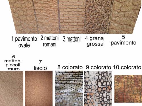 1 pannello sughero 33x50 cm 1cm di qualita mattoni liscio muro per presepe crib