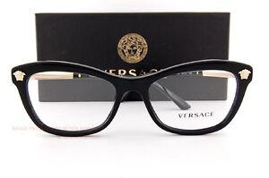 a3e647f51685 Image is loading Brand-New-VERSACE-Eyeglass-Frames-3224-GB1-Black-