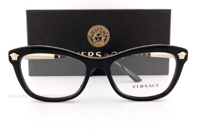 Authentic Versace Eyeglasses Ve3224 Gb1 Black Frames Rx-able 54mm   eBay