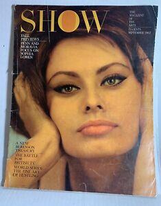Show Magazine Of The Arts September 1962 Sophia Loren Cover FREE US SHIPPING