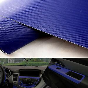 Blue carbon fiber texture decal 20 x50 dashboard vinyl wrap decorative sticker ebay Blue carbon fiber wrap interior