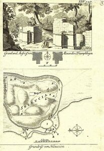 Antique-engraving-Grundrisse-von-Seleucien-P-XXV