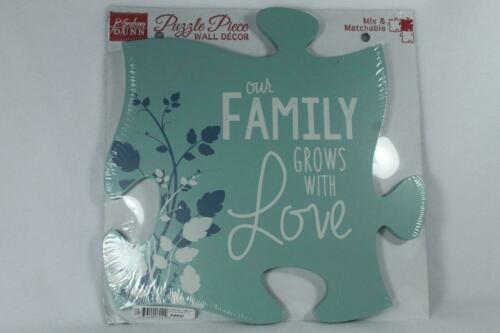 P Graham Dunn Puzzle Mix /& March Wall Decor /'Our Family Grows With Love/' NEW