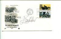 John Barry Lawler WWII Fighter War Ace Signed Autograph FDC