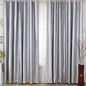 Waterproof 100 Blockout Silver Coated Light Blocking Curtain 140cm 225cm Lc922 Ebay