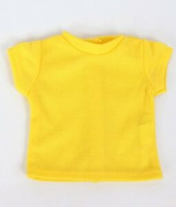 Bright-Yellow-T-Shirt-fits-American-Girl-Dolls-18-inch-Doll-Clothes-Short-Sleeve