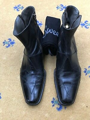 Oliver Sweeney Mens Black Leather Chelsea Dealer Boots Uk 8 Us 10 Eu 42 Compass