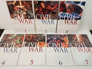 Civil War 1-7 complete series, Frontline 2-11, plus One-shot specials,  Marvel