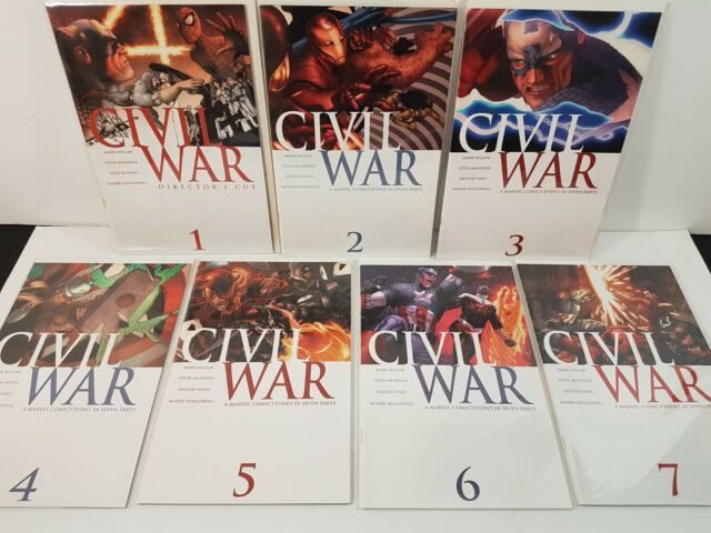 Civil War 1-7 complete series, Frontline 2-11, plus One-shot specials,  Marvel