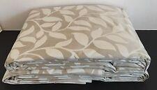 "New Laura Ashley Poplar Natural Curtains 78"" X 90 Long 198cm x 229cm Leaf Huge"